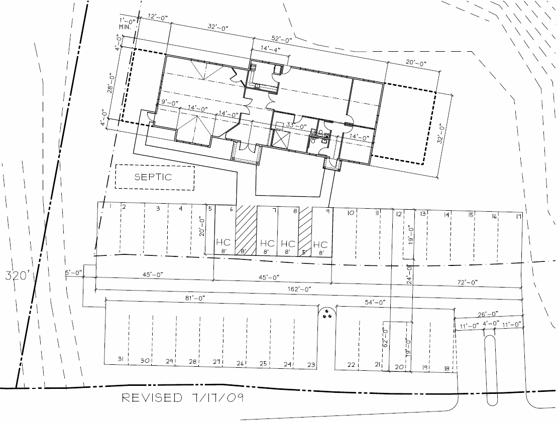 Site Plan for Concord Friends Meetinghouse
